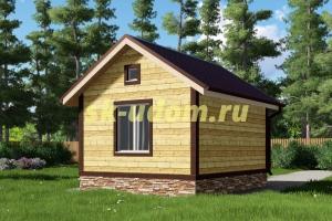 Недорогой каркасный домик 4х5