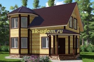 Каркасный дом. Проект ДК-26