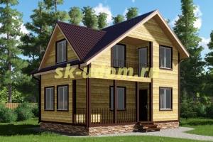Проект двухэтажного каркасного дома 6х8