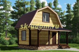 Каркасный дом. Проект ДК-29