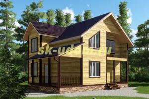 Проект двухэтажного каркасного дома 8х10 для постоянного проживания