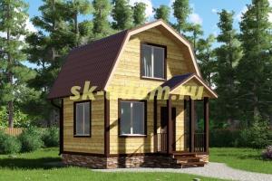 Каркасный дом. Проект ДК-33