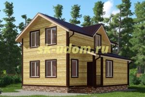 Каркасный дом. Проект ДК-39