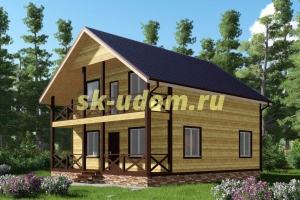 Проект двухэтажного каркасного дома 8.5х10