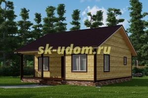 Каркасный дом. Проект ДК-53