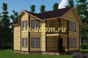 Каркасный дом. Проект ДК-59