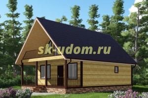 Проект каркасного дома 7.5х11 для постоянного проживания