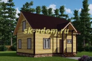Каркасный дом. Проект ДК-60