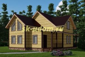 Каркасный дом. Проект ДК-61