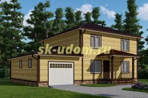 Каркасный дом. Проект ДК-66