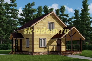 Каркасный дом. Проект ДК-69