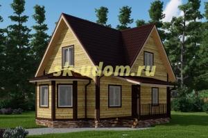 Каркасный дом. Проект ДК-71