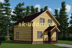 Каркасный дом. Проект ДК-77