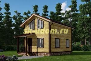 Каркасный дом. Проект ДК-78