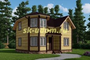 Каркасный дом. Проект ДК-81