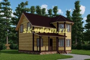 Каркасный дом. Проект ДК-82