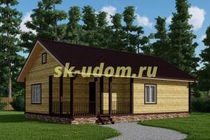 Каркасный дом. Проект ДК-85