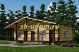 Каркасный дом. Проект ДК-88