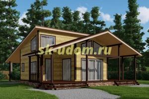 Каркасный дом. Проект ДК-89