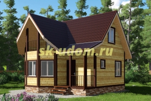 Каркасный дом. Проект ДК-9