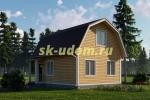 Дачный дом. Проект ДКД-18