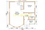 Дачный каркасный дом. Проект ДКД-2