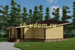Проект современного каркасного дома