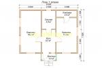 Проект недорогого каркасного домика 7х8 - планировка