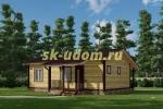 Одноэтажный каркасный дом с сауной