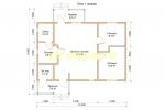 Одноэтажный каркасный дом с сауной - планировка