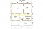 Каркасный дом 8х9 для постоянного проживания - планировка первого этажа