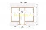 Каркасный дом 8х9 для постоянного проживания - планировка мансардного этажа
