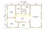 Каркасный дом 8х12 для постоянного проживания - планировка