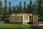 Проект одноэтажного каркасного дома