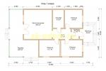 Проект одноэтажного каркасного дома - планировка