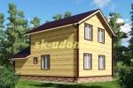 Проект каркасного дома для постоянного проживания с гаражом