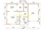 Проект каркасного дома для постоянного проживания с гаражом - планировка первого этажа