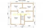 Проект каркасного дома для постоянного проживания с гаражом - планировка второго этажа
