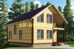 Проект двухэтажного каркасного дома 9х10.5 для постоянного проживания