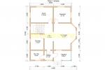 Проект двухэтажного каркасного дома 9х10.5 для постоянного проживания - планировка первого этажа