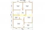 Проект двухэтажного каркасного дома 9х10.5 для постоянного проживания - планировка второго этажа