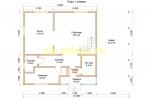 Проект каркасного дома 9х13 для постоянного проживания с навесом - планировка первого этажа
