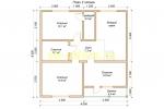 Проект каркасного дома 9х13 для постоянного проживания с навесом - планировка второго этажа