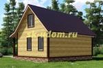 Каркасный дом. Проект ДК-16