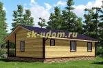 Проект одноэтажного каркасного дома 9х11 для постоянного проживания