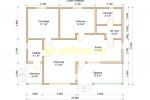 Проект одноэтажного каркасного дома 9х11 для постоянного проживания - планировка