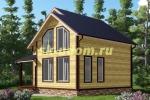 Проект двухэтажного каркасного дома 7.5х8.5 для постоянного проживания