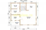 Проект двухэтажного каркасного дома 7.5х8.5 для постоянного проживания - планировка первого этажа