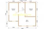 Проект двухэтажного каркасного дома 7.5х8.5 для постоянного проживания - планировка второго этажа