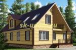 Большой зимний каркасный дом